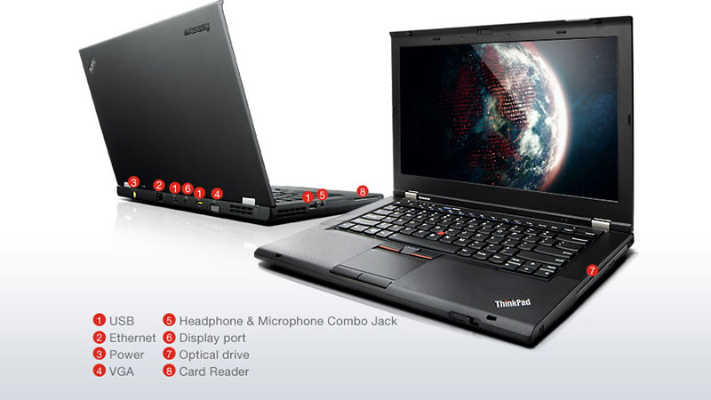 (Refurbished) Lenovo Thinkpad T430S Business Laptop (i7-3520M 3 60GHz,180GB  SS